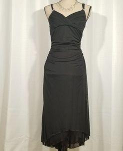 Trixxi hight low prom black sleeveless dress.  M